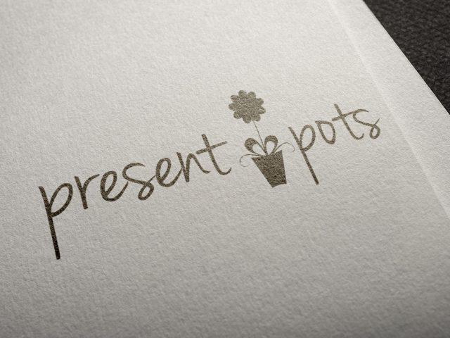Present Pots Logo Design
